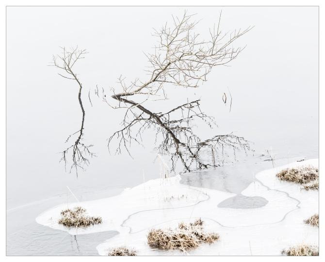 Ice on Ringstones Reservoir